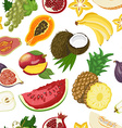 Seamless pattern with healthy fruits vector