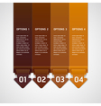 Brown color origami style number options banner vector