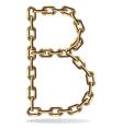 Golden letter b vector