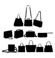 Bag silhouettes vector