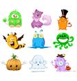 Halloween monsters pack vector