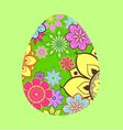 Easter funny egg vector