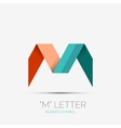 M letter company logo minimal design vector