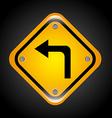Left turn design vector