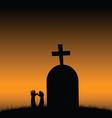 Cemetery color vector