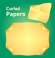 Curled papers vector