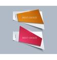 Modern paper element design vector