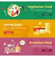 Set of flat design concepts for vegetarian food vector