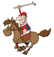 Polo player polo vector