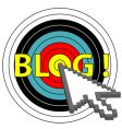 Blog on target click vector