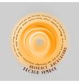Neon light soft orange round with text vector