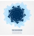 Abstract circles template flower design vector