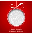 Abstract christmas ball vector