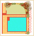 Swimming pool landscaping vector