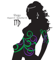 Silhouette of a girl interpretation zodiac sign vector