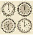 Vintage clock set vector