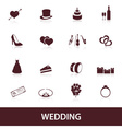 Wedding icons eps10 vector