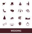 Wedding icons eps10 vector