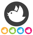 Flying bird icon vector