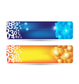 Abstract banner with numbers and cubes shape vector
