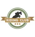Riding club vector
