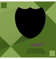 Shield protection flat modern web design on a flat vector