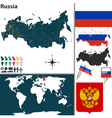 Russia map world vector