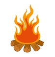 Isolated camp fire on white background vector