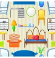 Seamless pattern with elements furniture vector