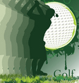 Golf poster with player silhouette vector