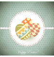 Easter eggs - old postcard in vintage style - vector
