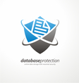 Data protection symbol concep vector