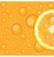 Fresh juicy orange background vector