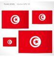 Tunisia flag template vector