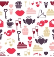 Wedding and valentines day seamless pattern vector