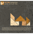 Tangram house vector