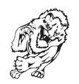 Wild lion vector