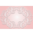 Stylish invitation or greeting card elegant lace vector