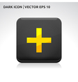 Add icon gold vector