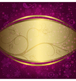 Christmas purple and golden frame vector