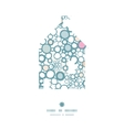 Colorful bubbles house silhouette pattern frame vector