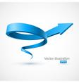 Blue spiral arrow 3d vector