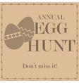 Egg hunt vector