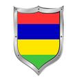 Mauritius flag button vector