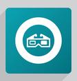 Flat 3d movie icon vector