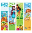Vacation banners vector