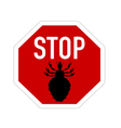 Stop sign for lice vector