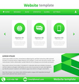 Website template white and green vector