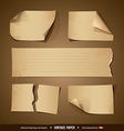 Vintage paper collections empty template vector
