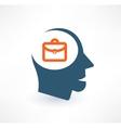 Businessman icon logo design vector